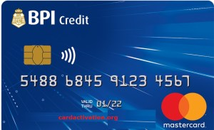 BPI Blue Mastercard Activation