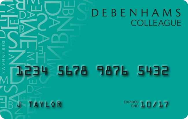 Debenhams Card Activation