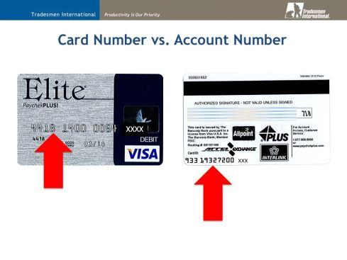 Paycheck Plus Card Activation