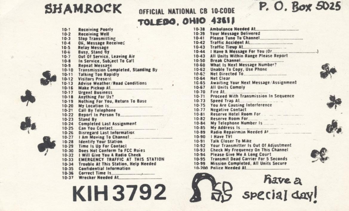 CB Radio 10-Codes