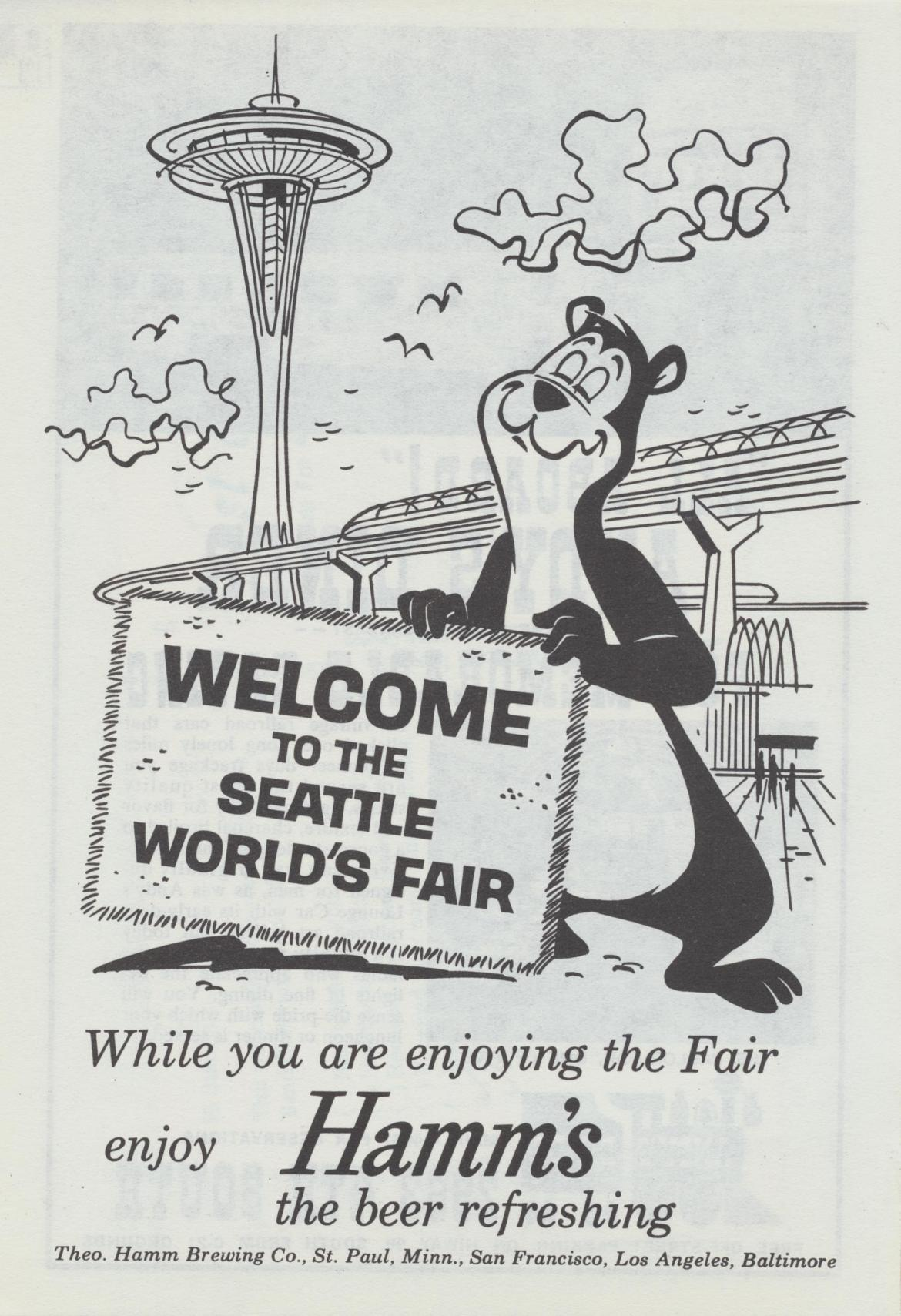 1962 Seattle World's Fair: Day 2 – Welcome to the Seattle World's Fair from Hamm's
