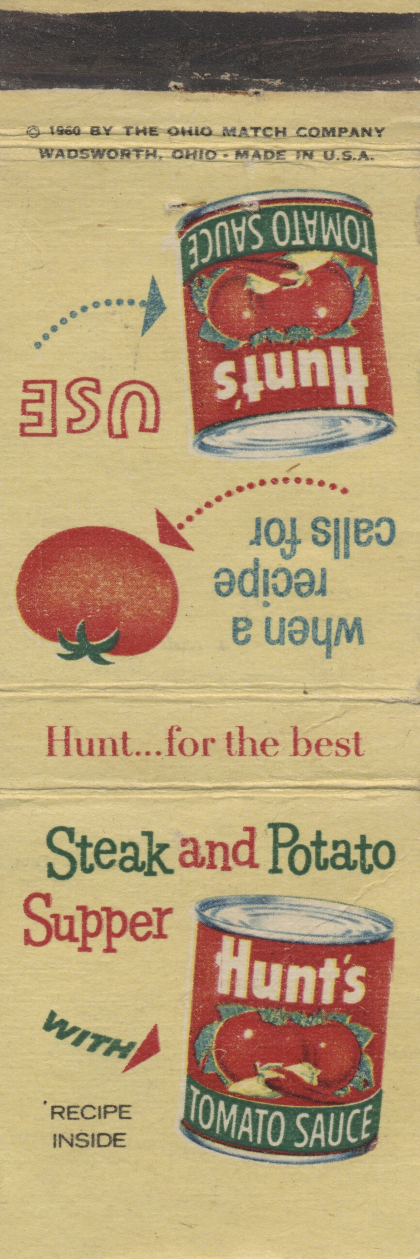 Hunt's Recipe Matchbooks, Vol. 5