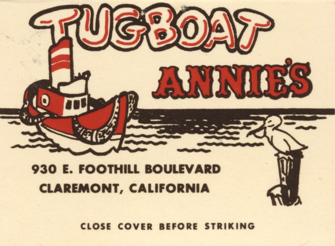 Lost Restaurants of California – Tugboat Annie's – Claremont, California