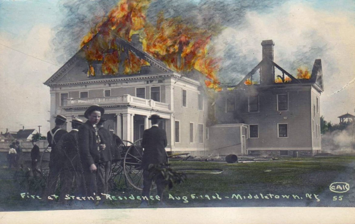 Fire at Stern's Residence – August 5, 1906