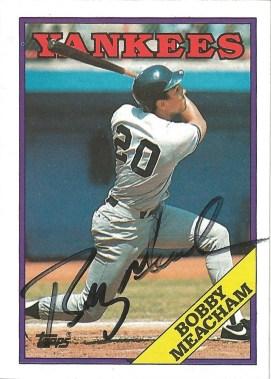 1988 Topps Bobby Meacham