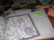 trace your design from a colouring book
