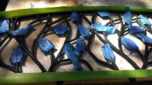 More masking tape than paint.