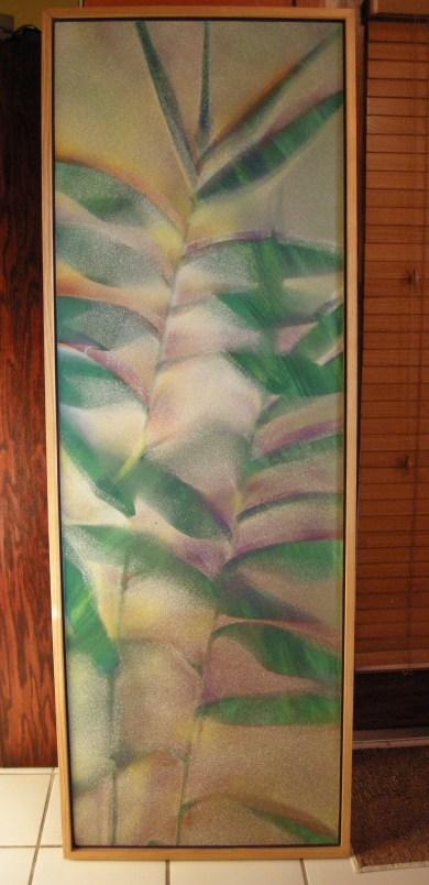 Tiger Grass. Spray paint on canvas.