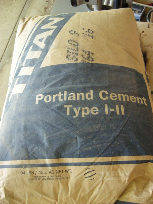 Portland cement...not concrete.