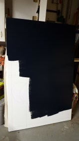 The primed canvas accepted the paint perfectly.