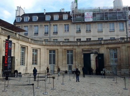 Picasso Museum courtyard Paris France