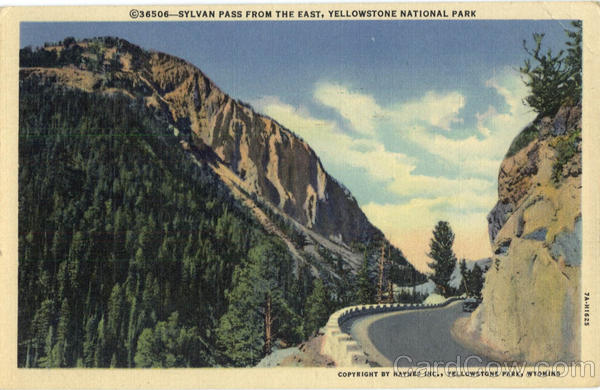 Sylvan Pass From The East Yellowstone National Park WY