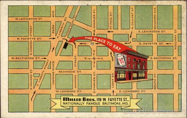 Miller Bros 119 W Fayette Street Baltimore MD