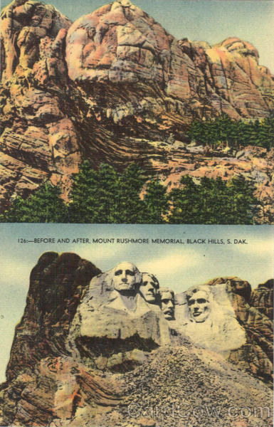 Before And After Mount Rushmore Memorial Black Hills SD