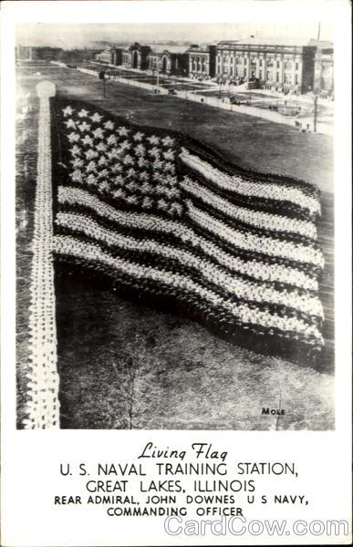 Living Flag U S Naval Training Station Great Lakes IL