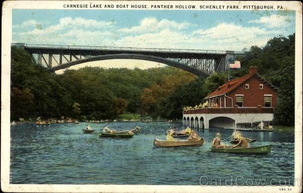 Carnegie Lake And Boat House Panther Hollow Schenley Park