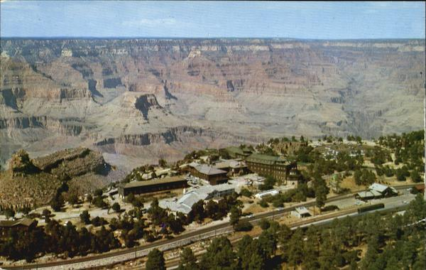 Aerial View Of El Tovar Hotel Grand Canyon National Park