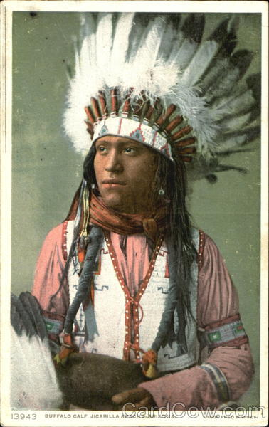 Buffalo Calf Jicarilla Apache Native Americana