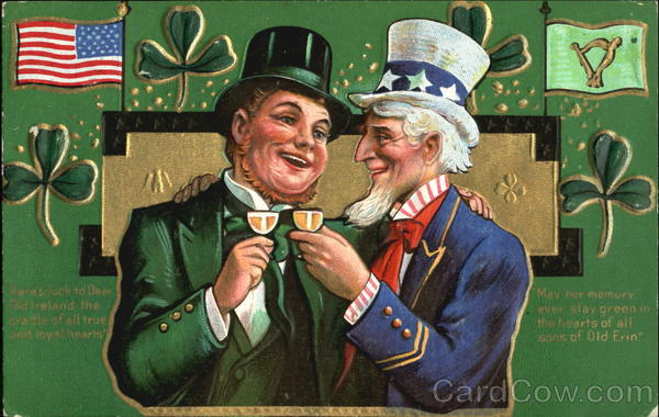 Uncle Sam And Irish Man St Patricks Day
