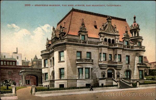 Spreckels Mansion Van Ness Avenue San Francisco CA