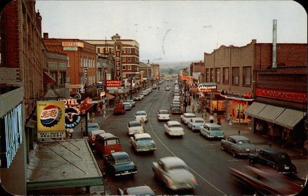 Twilight View Of Main Street Lewiston ID