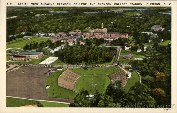 Aerial View Showing Clemson College And Clemson College