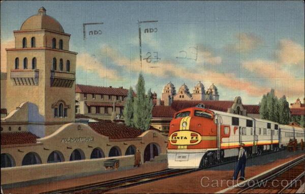 A 27 Santa Fe Super Chief Train Albuquerque NM