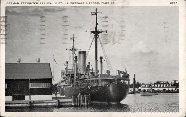 German Freighter Arauca Fort Lauderdale FL