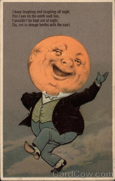 Man With Moon Head Astronomy
