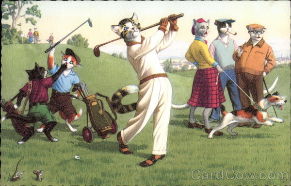 Cats Playing Golf Cats