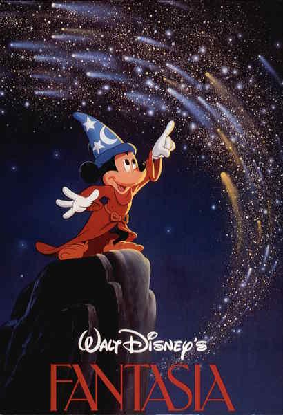 Mickey Mouse In Walt Disneys Fantasia Cartoons