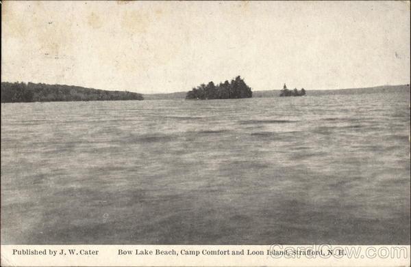 Bow Lake Beach Camp Comfort And Loon Island Strafford NH