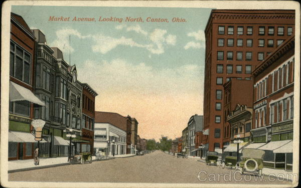Market Avenue Looking North Canton OH