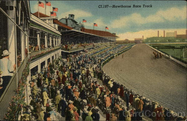 Hawthorne Race Track View From Club House Cicero IL IL
