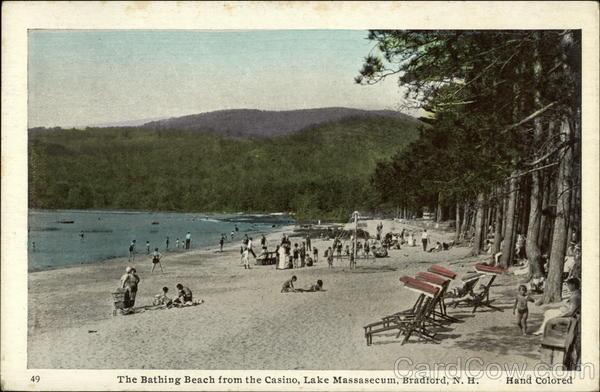The Bathing Beach From The Casino Lake Massasecum