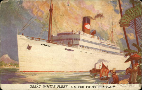 Great White Fleet United Fruit Company Ship With