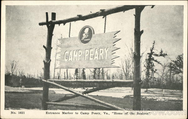 Entrance Marker To Camp Peary Va Home Of The Seabees