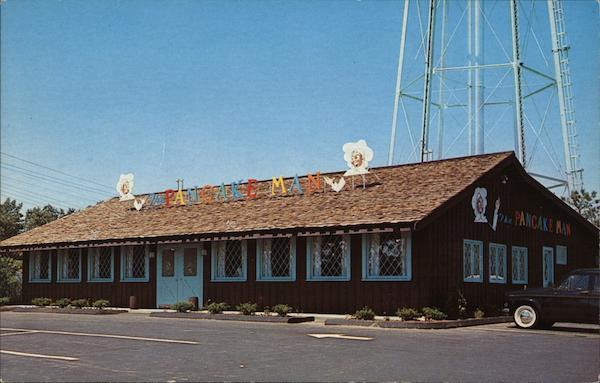 The Pancake Man Of Cape Cod Hyannis, Ma Postcard