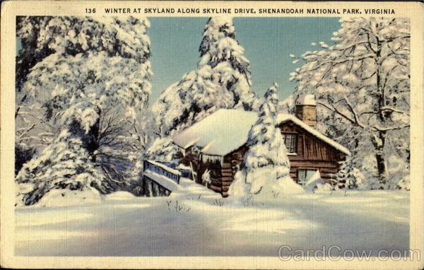 Winter At Skyland Along Skyline Drive Shenandoah National