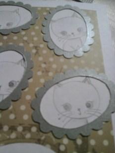 kitten four for framed cat card