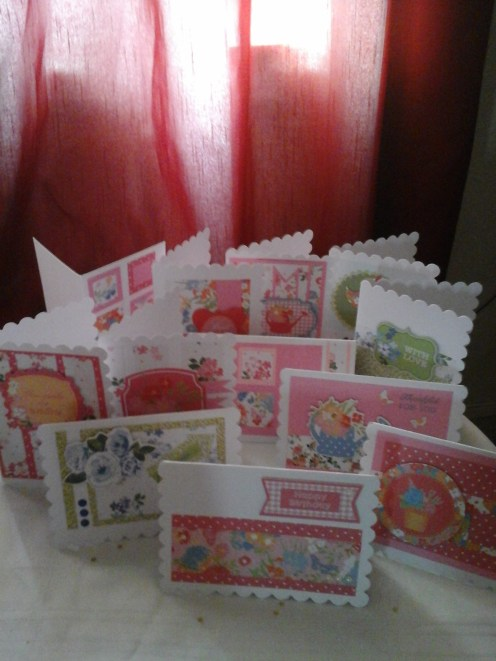 lots of cards made with gift