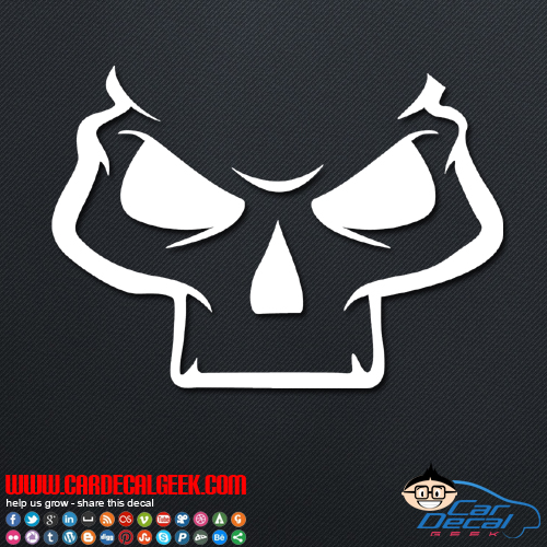 Sinister Skull Vinyl Car & Wall Decal Sticker Graphic