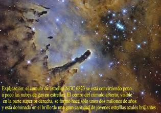 ngc6823 Cumulo estrellas nube sculpting
