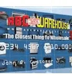 ABC Warehouse Credit Card