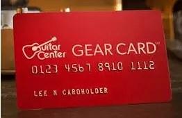 Guitar Center Credit Card