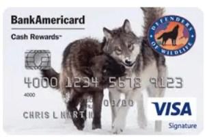 Defenders Of Wildlife Cash Rewards Visa Signature Credit Card