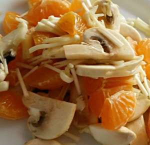 Naranja, Champiñon PortoBello y Champiñon Dorado