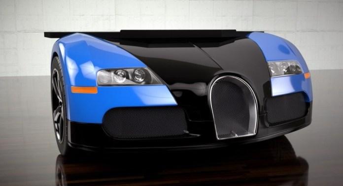 Столик в виде Bugatti Veyron