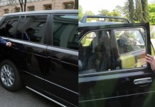 Автомобили Петра Порошенко и Владимира Путина