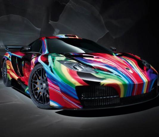 Разноцветное авто